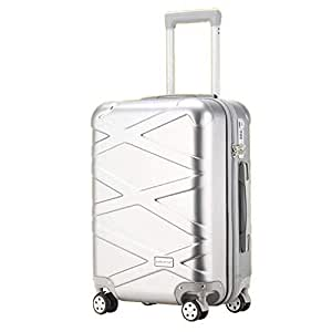 NJC Luggage Box Aluminum Frame Trolley Case Men and Women Travel Case X-Striped Clothes Storage Box
