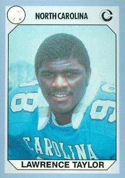 Lawrence Taylor Football Card (North Carolina) 1990 Collegiate Collection ()