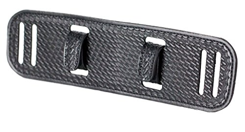 (BackUpBrace Duty Belt Back Support (Basket Weave Leather) - For Use With Police Utility Belt - Reduce Strain, Pressure and Pain While Supporting Your Lower Back - Designed for Men & Women)