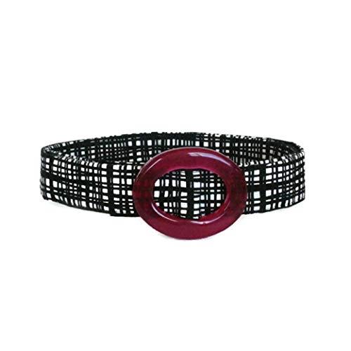 Women's Fabric Belt/Basket Weave Belt/Womens Ribbon Belt/Preppy Cloth Belt - Abstract Black White/Wide Belt Skinny Belt/Plus Sized Belt (Abstract Belt Buckle)