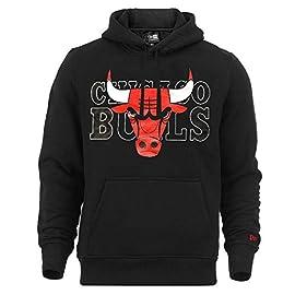 A NEW ERA Era Chicago Bulls Hoody NBA Graphic Overlap Black – XXL