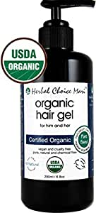 Herbal Choice Mari Organic Hair GEL 200ml/ 6.8oz Glass Bottle