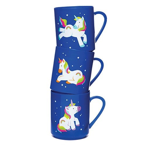 Giocattolo Divertente per Sorprese per Buste Regalo o Premi per Bambini Baker Ross Tazze con Unicorni Arcobaleno per Bimbi Confezione da 4