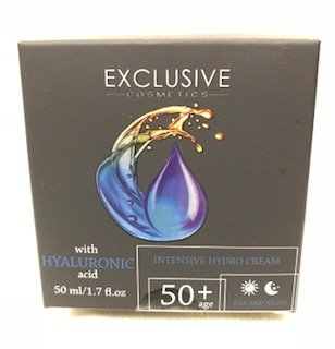 (EXCLUSIVE COSMETICS INTENSIVE HYDRO CREAM 50+ WITH HYALURONIC ACID DAY AND NIGHT 1.7 FL OZ)