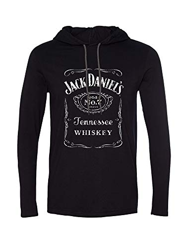 Jack Daniels Men's Daniel's Logo Graphic Hooded Long for sale  Delivered anywhere in USA