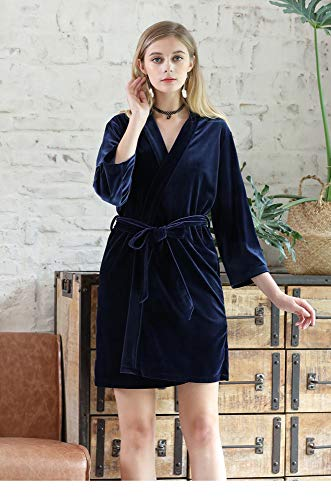Pigiama Fashion Autunno Maniche navy Casual blu Sexy Caldo Abbigliamento WEII Nove Abito Punti Accappatoio L'Inverno Donne E Home Di dIqqwFzO