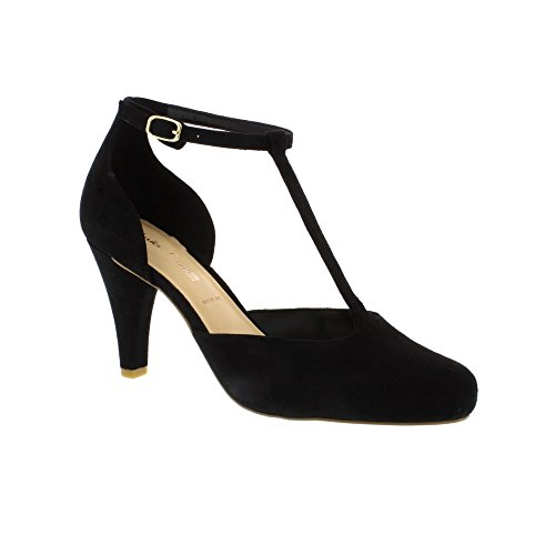 Clarks Dalia Tulip Wide Fit - Black Suede