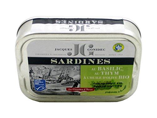 Sardines in Organic EVOO with Organic Basil and Organic Thyme
