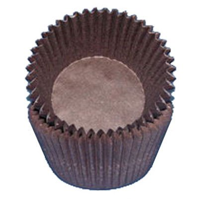 Brown Glassine Cupcake Muffin Baking Cups Liners 500 count ()