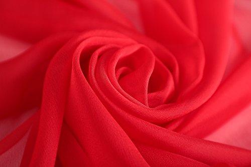 PLECUPE Donna Sciarpa Wraps Chiffon Scarf, Elegante Multicolore Primavera Estate Sciarpa Scialle Coprispalle Shawl Soft Long Beach Scarves
