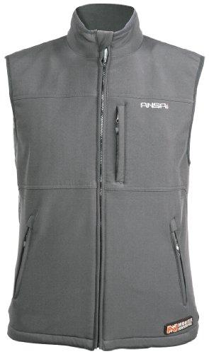 (Mobile Warming Classic Vest Heated Textile Men's Motorcycle Heated Vest (Gun Metal, XX-Large) )