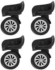BESPORTBLE Conjunto de reparo de 4 peças para malas de bagagem, rodas giratórias de substituição para bagagem, mala de viagem, rodas e rolamentos de plástico para kits de bagagem