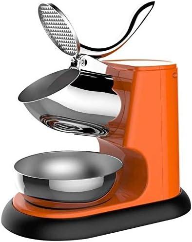 かき氷機 電動かき氷機 家庭用 アイスクラッシャー、電気シェーバーアイスマシン、アイスクリーム、冷たい飲み物、フルーツデザートやカクテル、95キロ/家庭用品&商用利用のための時間のためのステンレス鋼のかき氷メーカー (Color : Orange)