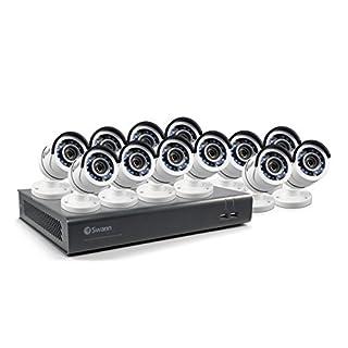 Swann SWDVK-1645912-US 16 Channel HD 1080p CCTV Security System Kit DVR & 12 1080p Bullet Cameras …