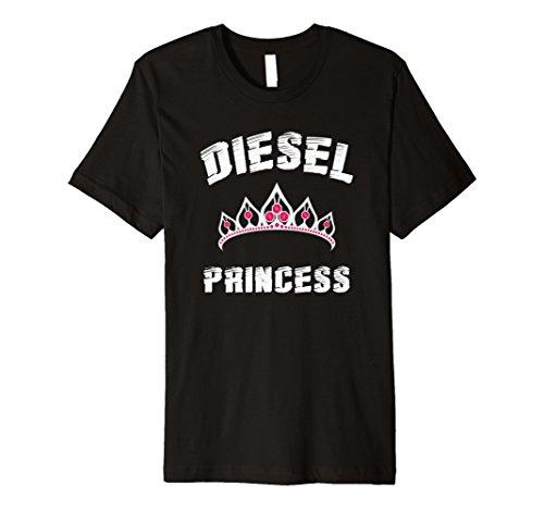 Diesel Womens Clothing - Diesel Princess T-Shirt Diesel Power Roll Coal Diesels Tee