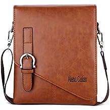 Alena Culian Men Shoulder Bag Messenger Bag Men Bag Crossbody Bag For ipad(Khaki)