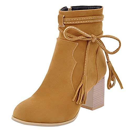 Women's Yellow Women's Classic Boot Classic AIYOUMEI AIYOUMEI Yellow Boot X4Rxg5nPq5