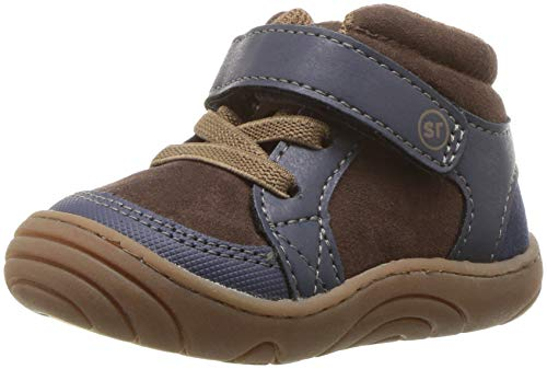 Image of Stride Rite Boys' SR-Ethan High Top Sneaker, Navy/Brown, 5 M US Toddler