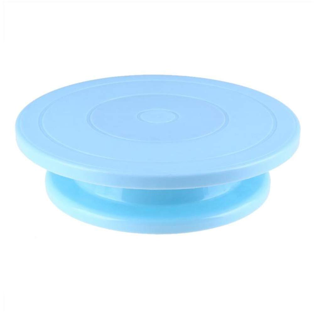 28CM PLASTIC TURNTABLE CAKE DECORATING ROTATING STAND RACK KITCHEN BAKING TOOLS