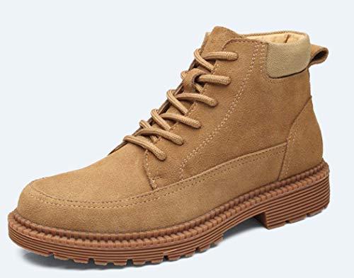 Round Lace Lavorazione Stivali Casual Foderato Pelliccia Brown Martin New 40EU Toe All'aperto Mens 2018 Da Up Autunno Boots wxS8ffXq4