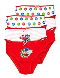 PJ Masks Girls Underwear | Briefs 6-Pack Size 4T