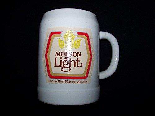 Molson Light Vintage Ceramic Beer Mug