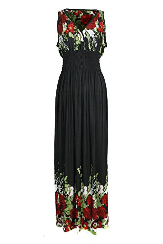 G2 Chic Women's Spring and Summer Floral Festival Dress - Regular and Plus (Jersey Surplice Dress)