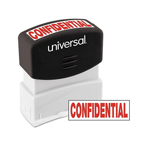 Universal Message Stamp, Confidential, Pre-Inked One-Color, Red (10046)