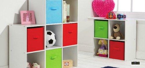 tagre 6 cubes de rangement pour chambre denfant blanccubes colors - Rangement Chambre D Enfant