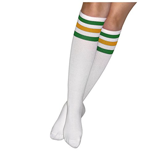 Eleven Halloween Costume Socks: Unisex Striped Knee-High