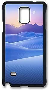 Blue Desert Sunset Case Cover for Samsung Galaxy Note 4, Note 4 Case, Galaxy Note 4 PC Black Case Cover