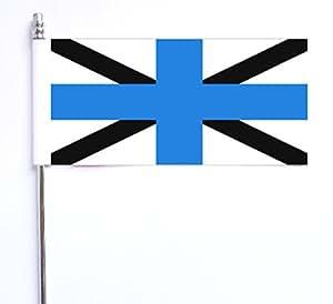 Estonia estonio azul marino JACK Ultimate bandera de mesa