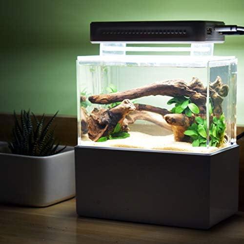 水槽アクリルミニ水槽デスクトップミニ水族館タンクボウル金魚ベッタ小魚用オフィス、ビジネス、家庭用,黒