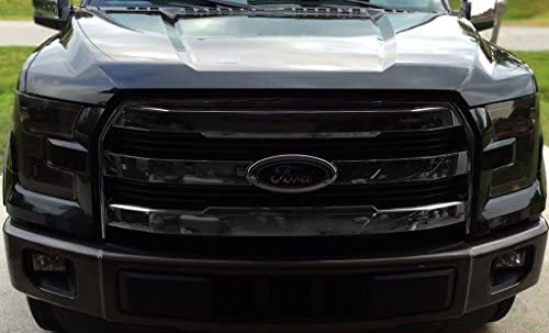 35/% Light Smoke Precut Vinyl Tint Cover for 2015-2017 Ford F150 Headlights
