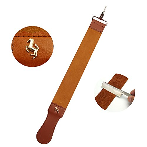 - Straight Razor Strop Leather Sharpening Strap Barber Leather