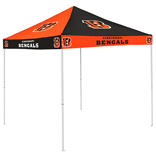 Logo Brands NFL Cincinnati Bengals Checkerboard Tent Checkerboard Tent, Black, One Size