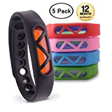 GGOO Mosquito Repellent Bracelet 5 Pack 100% All Natural Plant-Based Oil Travel Insect