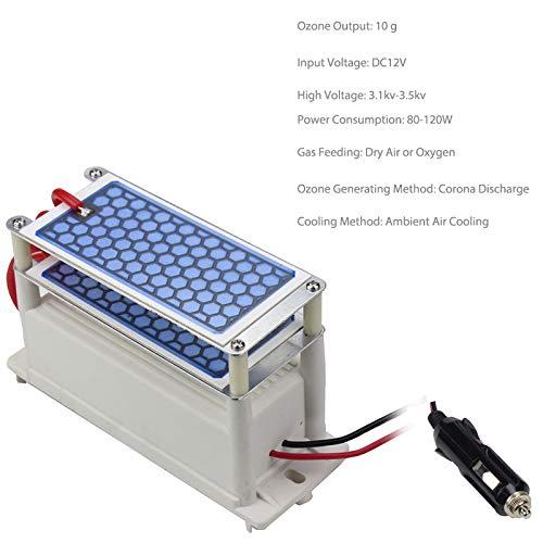 kbxstart Ceramic Ozone Generator DC 12V 10g/H Double Ceramic Plate ...