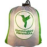 Hummingbird Hammocks Ultralight Double Hammock, Gray and Grass Green