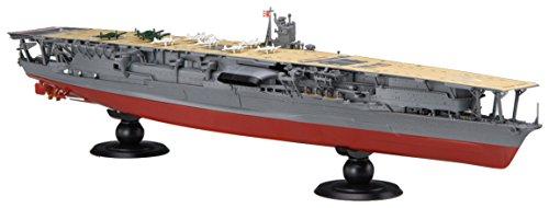 Fujimi model 1/700 ship NEXT series No4, Navy military aircraft carrier Akagi already colored plastic model ship NX-4