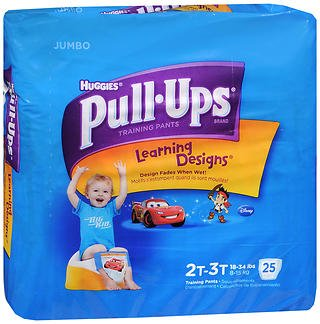 Huggies Pull-Ups Learning Designs Boys' Training Pants Size 2T-3T - 25 ct cs of 4, Pack of 6 by HUGGIES (Image #1)