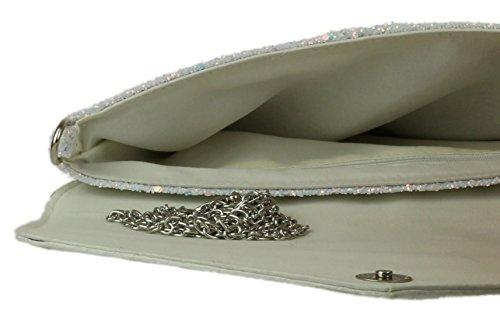 Clutch Plain Silver Bag Girly Handbags Glitter tzwqA1A
