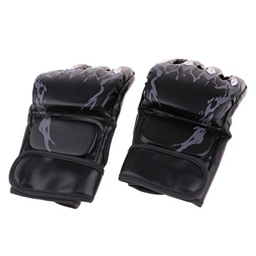 CUTICATE 1 Pair Half-Finger Boxing Fight Glove Sparring Combant Punching Wrist Band