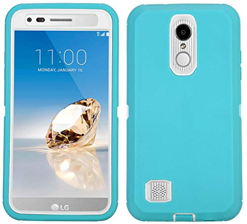 - LG LV3 Case(2018/2017), Heavy Duty Shockproof Full-Body Protective Hybrid Case with Swivel Belt Clip and Built-in Screen Protector for LG LV 3/ LG Aristo 2/ LG Tribute Dynasty/LG Fortune 2 (Mint)