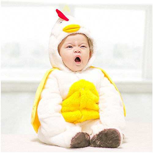 Onesie, MagicQK Chicken Costume Toddler Winter Baby Jumpsuit Xmas from Newborn to 18 Months (0-3M/22