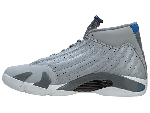 Jordan Mens Air Jordan 14 Retro Wolf Grey/Cool Grey/White/Sport Blue 487471-004 11.5 Og7po22l5