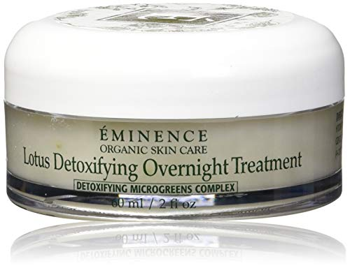 Eminence Organic Skincare Lotus Detoxifying Overnight Treatment, 2 Ounce