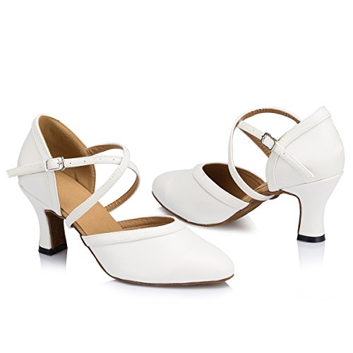 White Salle Heel de Miyoopark bal femme 7cm dPUadwIq