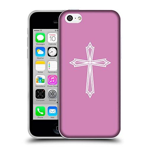 GoGoMobile Coque de Protection TPU Silicone Case pour // Q09400618 Croix chrétienne 50 Bronze // Apple iPhone 5C