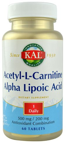 KAL Acetyl-L-Carnitine and Alpha Lipoic Acid -- 60 Tablets - 2PC by Kal